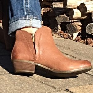 Lucky Brand Brenon Double Zip Ankle Booties Size 8
